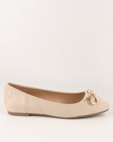 Utopia Ballet Point Pump Beige