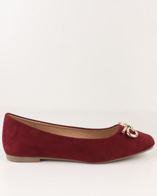 Utopia Ballet Point Pump Burgundy