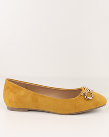 Utopia Ballet Point Pumps Mustard
