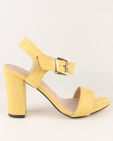 Utopia Block Heel Sandal Yellow