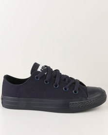Soviet Viper Casual Low Cut Lace Up Canvas Shoe Navy Mono