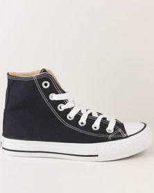 Soviet L Viper Hi Casual Lace Up High Top Canvas Sneakers Navy
