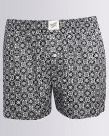 Woodstock Laundry Indo Tribal Boxer Shorts Black