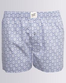 Woodstock Laundry India Boxer Shorts Blue