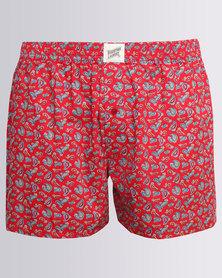 Woodstock Laundry Paisley Boxer Shorts Red
