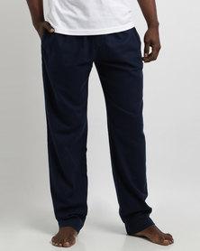 Woodstock Laundry Flannel Long Pants Blue