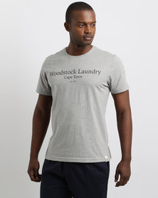 Woodstock Laundry Typo T-Shirt Grey