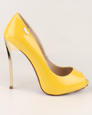 PLUM Tanna High Heel Court Shoes Lemon | Zando