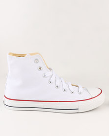 Soviet Viper Canvas Hi Cut Lace Up White/White