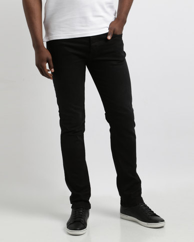 Crosshatch Marvin Slim Jeans Black Wash