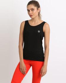Von Scher Butterfly Sports Vest Top Black