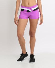 Von Scher Fit As A Fiddle Shorts Purple and Black