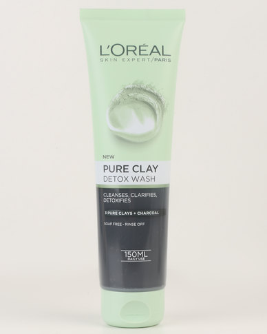 L'Oréal Extraordinary Clay Gel Wash 150ml Detox