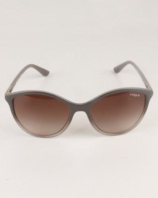 390ed3edaa Vogue Opal Grey Gradient Brown Lens Sunglasses Brown