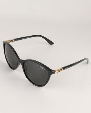 865a5ad7cbe964 Vogue Black Frame With Gray Lens Sunglasses Black