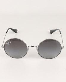 Ray-Ban Light Grey Gradient Polarized Lens Gunmetal-tone