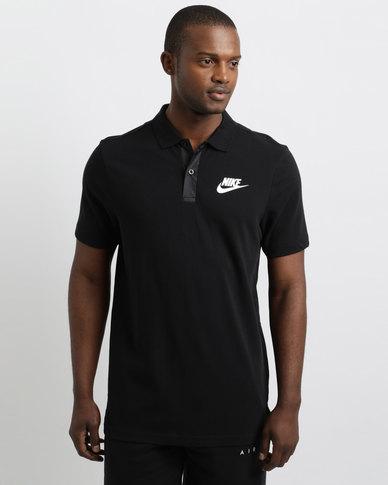 9342170a Nike Sportswear Men's AV15 Polo Black/White | Zando