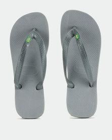 Havaianas Brazil Flip Flops Steel Grey