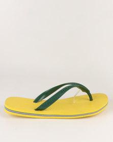 Havaianas Brazil Flip Flops Citrus Yellow