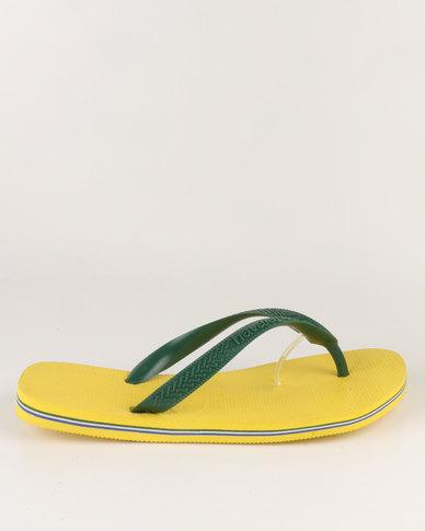 f79cf3792 Havaianas Brazil Flip Flops Citrus Yellow   Zando