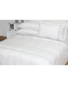 Sheraton Adele Embroidery Duvet Cover Set 200 Thread Count White