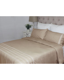 Sheraton Adele Embroidery  Duvet Cover Set 200 Thread Count Pebble