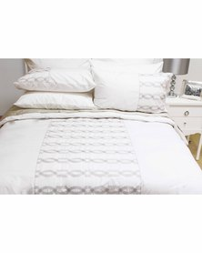 Sheraton Troden Embroidery Duvet Cover Set 200 Thread Count White