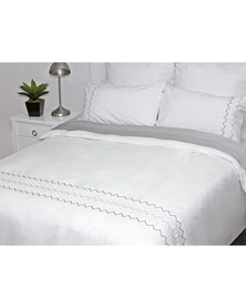 Sheraton Jagger Embroidery Duvet Cover Set 200 Thread Count White