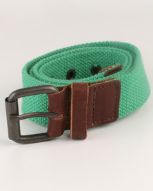 Baobab Web Belt Green