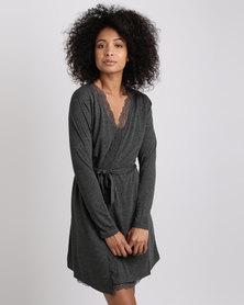 Women'secret Robe Dark Melange