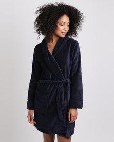 Women'secret Robe Marine Blue