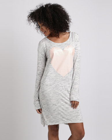 Women'secret Nightdress Grey