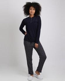 Women'secret Feminine Pajamas 3 Marine Blue