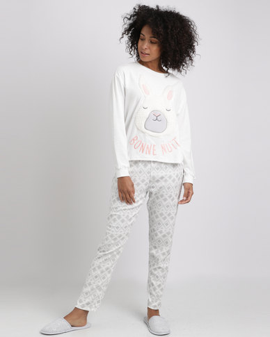 Women'secret Fun Pyjamas Ivory