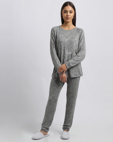 Women'secret Must Pyjamas Dark Melange