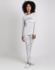 Women'secret Fun Pyjamas Grey