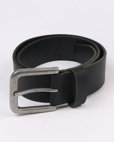 New Look Core Leather Belt Black