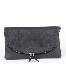 New Look Barbara Plain Crosss Body Bag Black