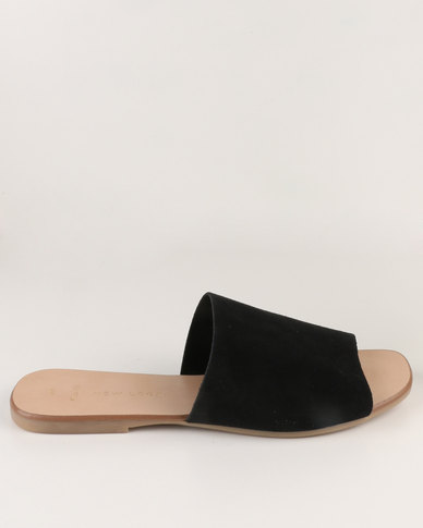 supply for sale New Look New Look Wide Fit EC Fuel 3 Suede Mule Sandal Black cheap amazing price for nice for sale really sale online 0dOk6yRsG