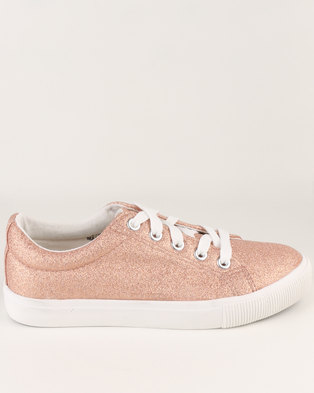 New Look Rose Gold Sneaker Pink