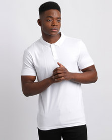 New Look Cotton Polo T-Shirt White