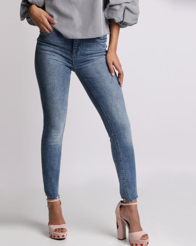 New Look Authentic Skinny Jeans Mid Blue