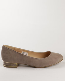 New Look Jensation Mini Block Pump Taupe