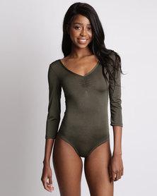 Utopia Ballerina Bodysuit Olive