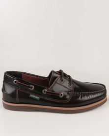 New Port Leather Boat Lace-Up Brown