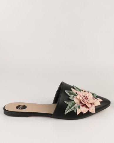 Footwork Footwork Asia Embroidered Slip on Shoe Black cheap price outlet 6gJTBwGXTl