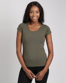Utopia Stretch Basic Tee Olive