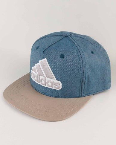 adidas Performance Flat Cap Logo Mel Blue  55e553544c2