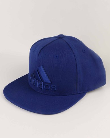 adidas Performance Flat Cap Logo Blue  62c8826ab7c