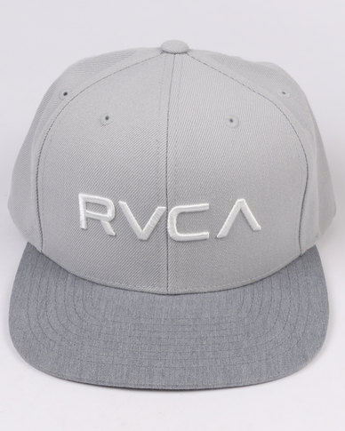 best loved b412f 4db0a RVCA Twill Snapback Grey White   Zando
